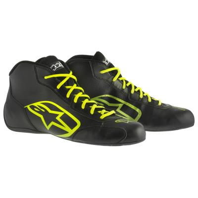 Alpinestars Tech 1-K start-kart boots in zwart en fluo geel