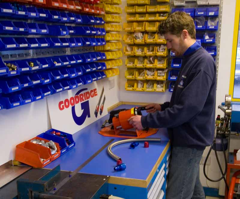 Goodridge G-Tec Workshop bij Merlin Motorsport